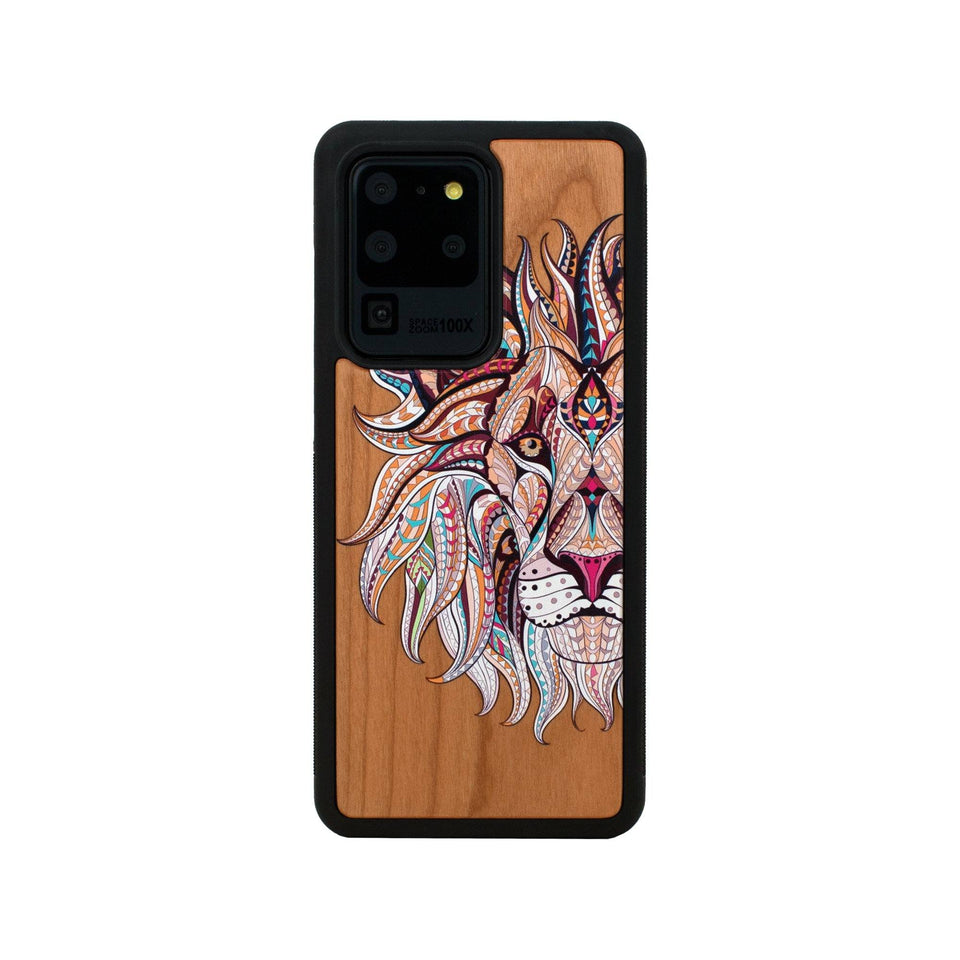 Lion Unique Wood Colored Samsung Galaxy Case Wooden limited77