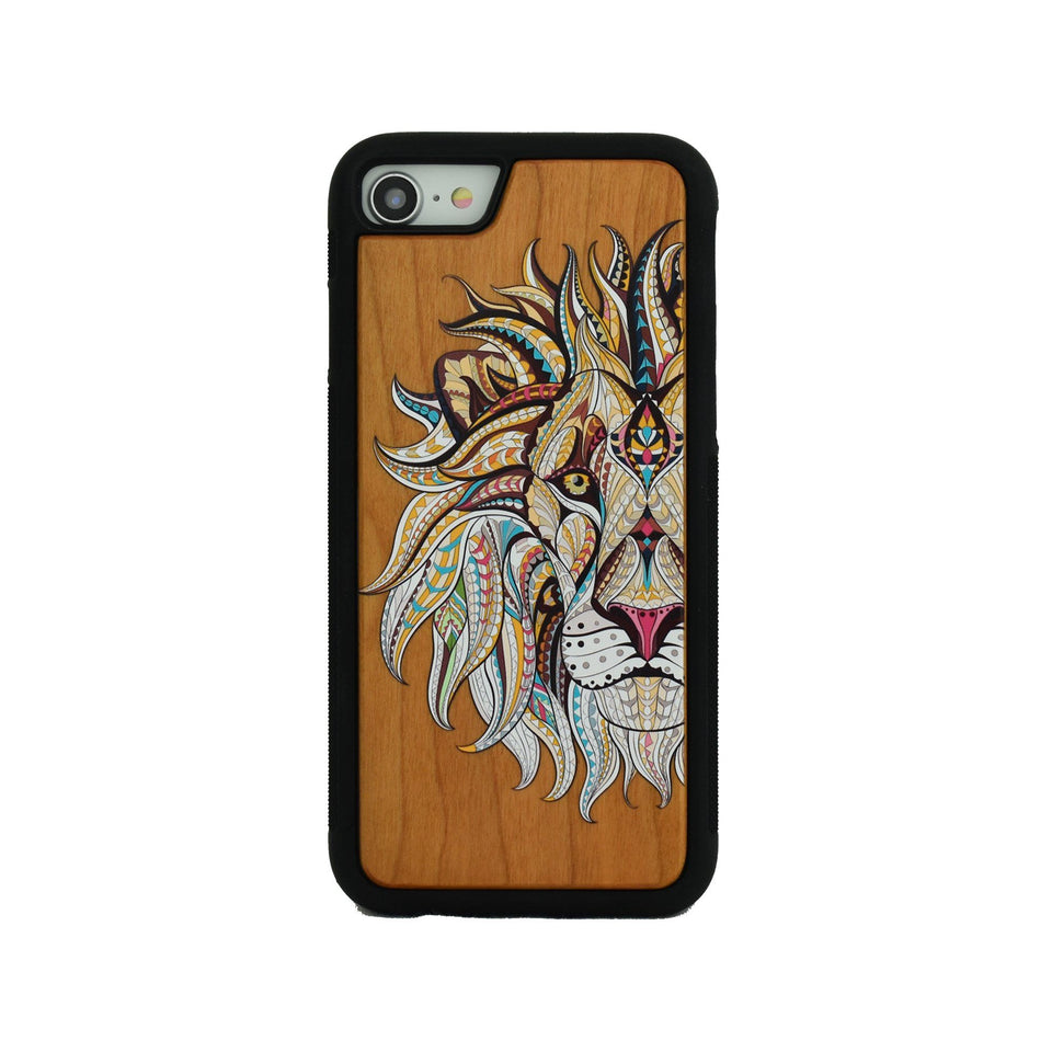 Lion Wooden Unique Case for Apple iPhone - LIMITED77