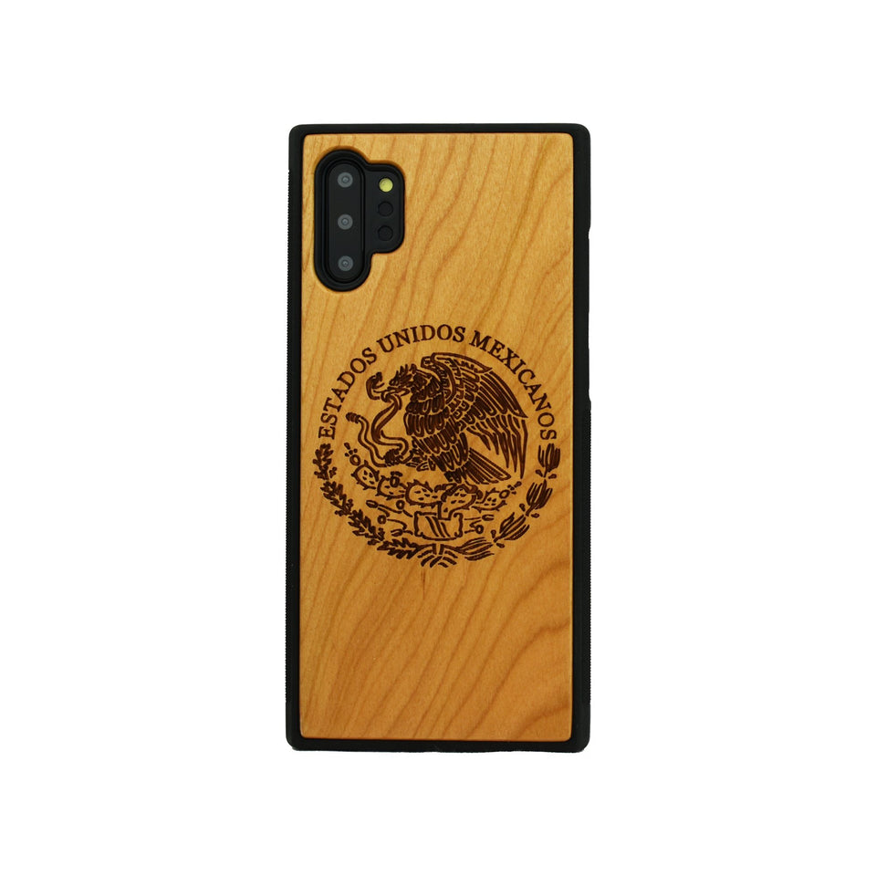 Mexican Arms Unique Engraved Samsung Galaxy Wood Case - LIMITED77