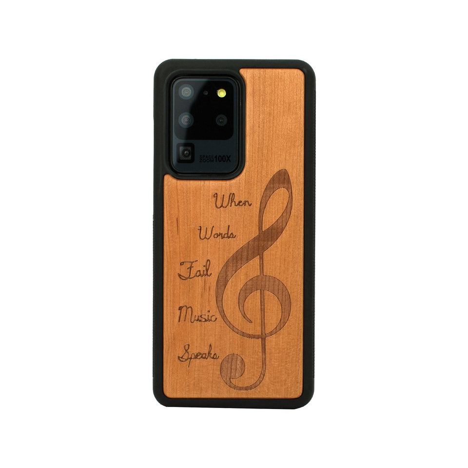 Music Sign Wood Engraved Samsung Galaxy Unique Case Wooden limited77