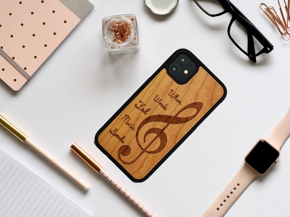 Music Wooden Unique Carved Case for Apple iPhone - LIMITED77