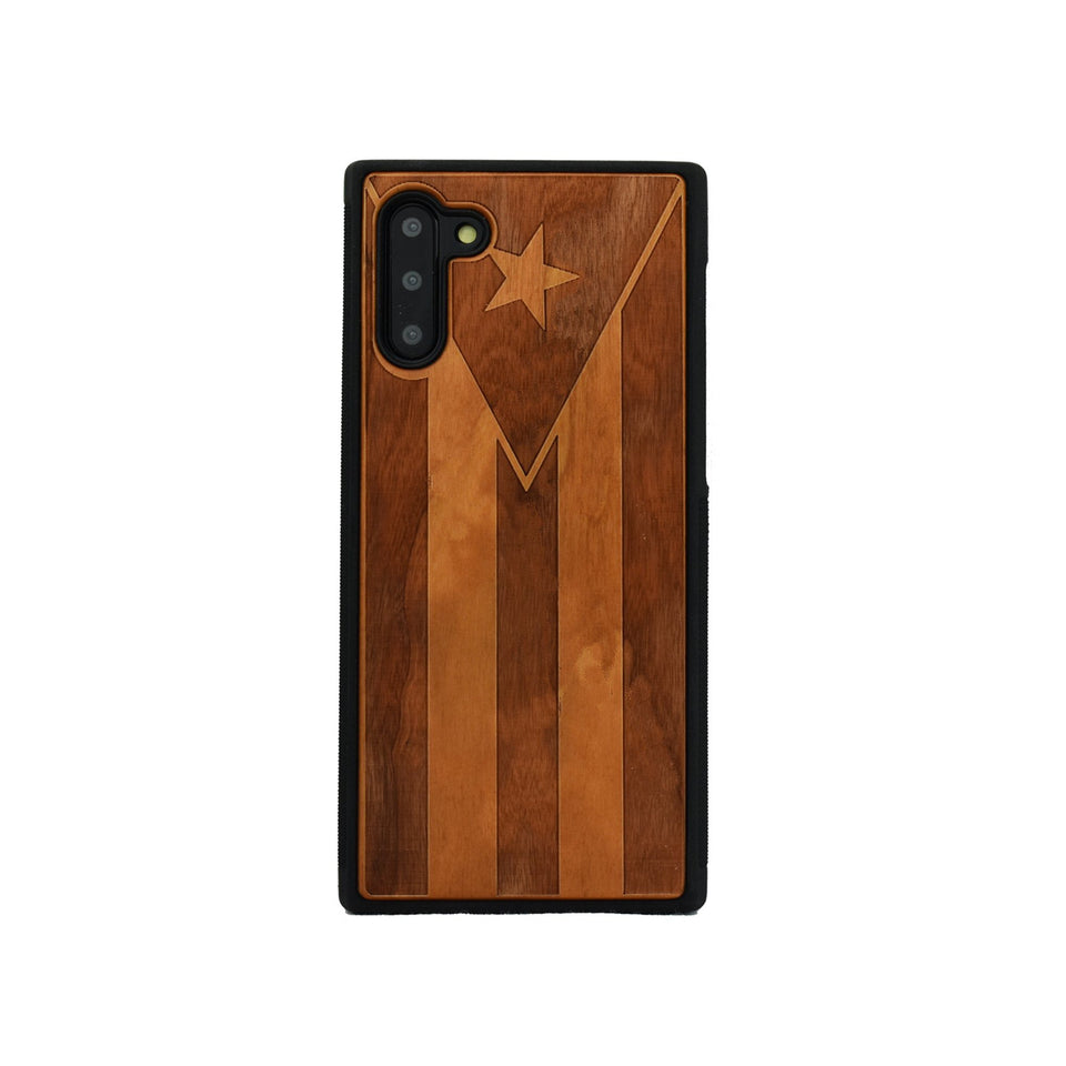 Puerto Rico Flag Samsung Galaxy Wood Carved Unique Case - LIMITED77