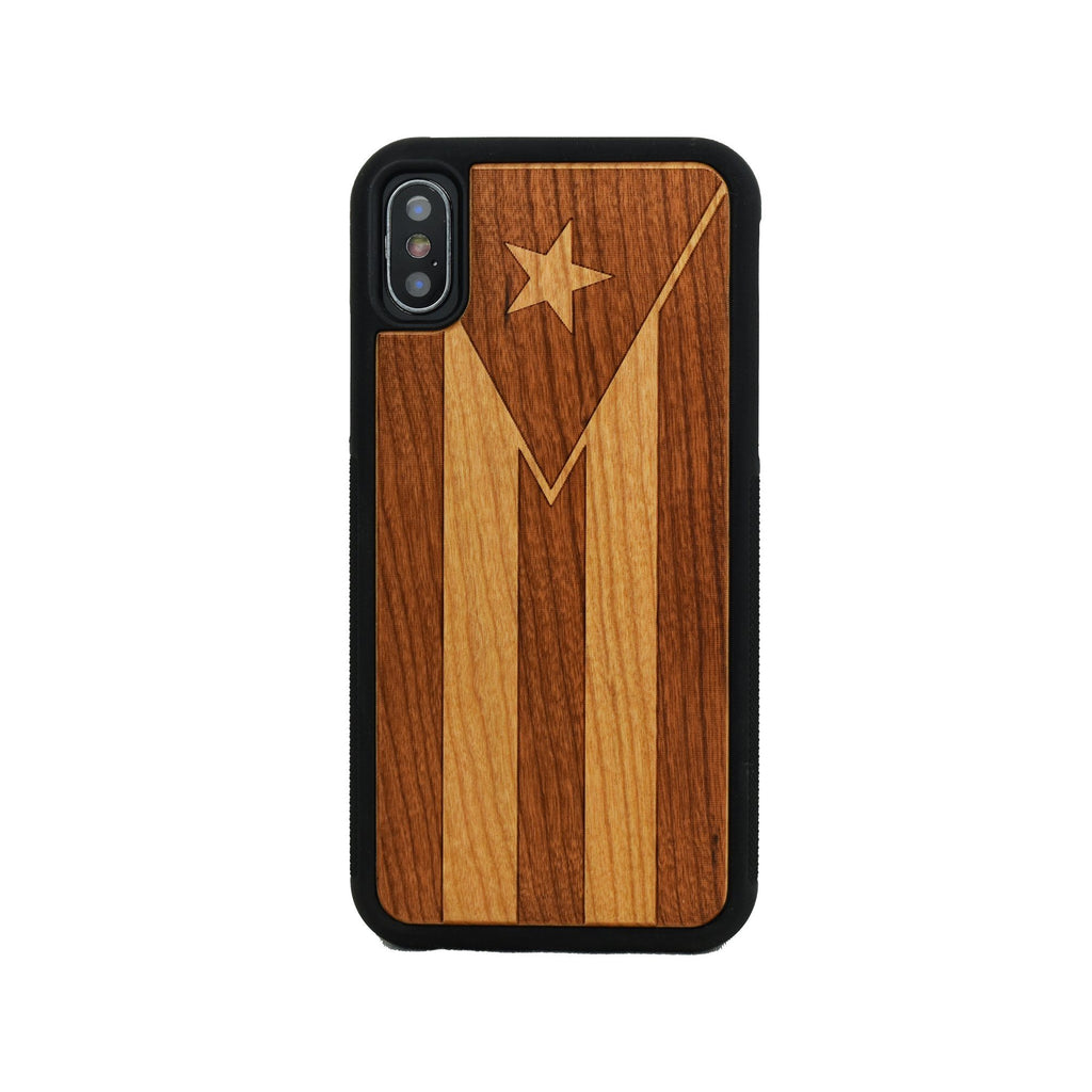 Puerto Rico Flag Wooden Unique Carved Case for Apple iPhone - LIMITED77