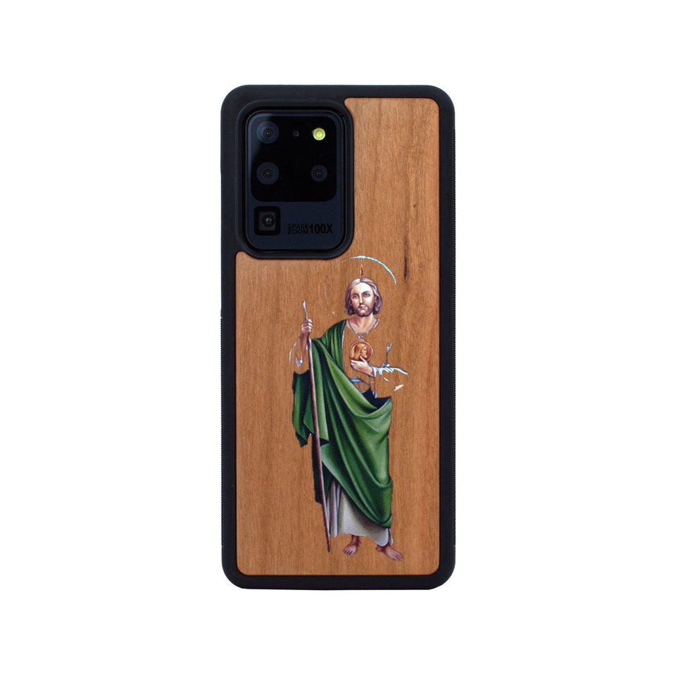 San Judas Tadeo Samsung Galaxy Wood Colored Unique Case Wooden limited77