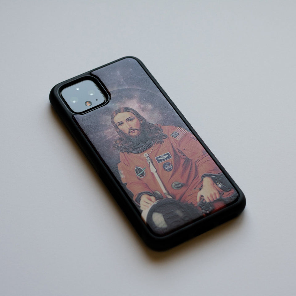 Wooden Google Pixel Case - Pixel 4 Case, Pixel 3 Case, Pixel 4 XL, Pixel 3 XL, Pixel 3, Pixel 3a, Pixel 3a xl, Jesus Christ Astronaut Space limited77