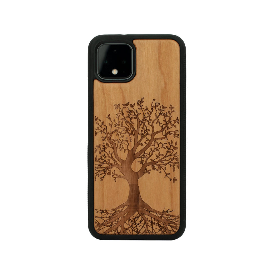 Wooden Google Pixel Case - Pixel 4 Case, Pixel 3 Case, Pixel 4 XL, Pixel 3 XL, Pixel 3, Pixel 3a, Pixel 3a xl Tree design limited77