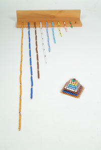Coloured Bead Chains with Rack