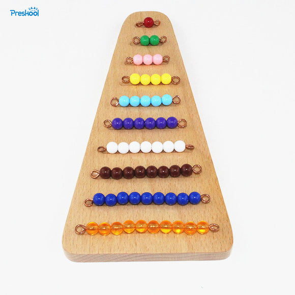Coloured Bead Stair with Wooden Tray