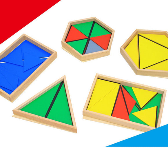 Family Set - Constructive Triangles 5 Boxes - Wonder Eduquip