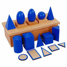 Blue Geometric Solids with Box - Wonder Eduquip