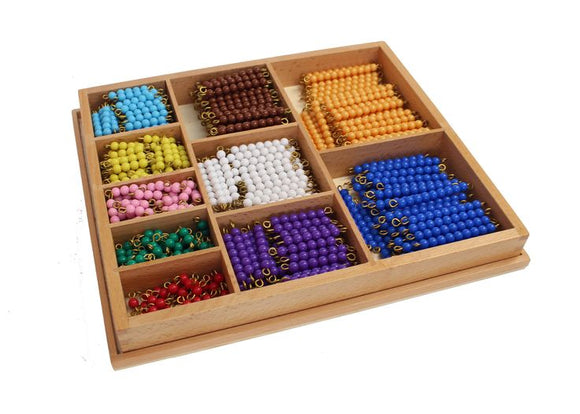 Multiplication Bead Bar Layout Box(55sets of each color beads chains) - Wonder Eduquip