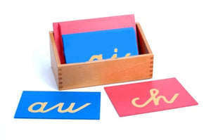Sandpaper Double Letters Cursive, with Box