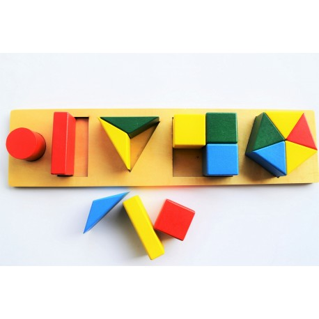 Shapes Fraction Sorting Excercise in Tray Small Size
