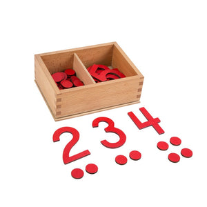 Cut - Out Numeral & Counters with Box
