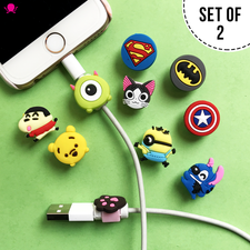 SET OF 2 Pieces Cartoon Cable Protector