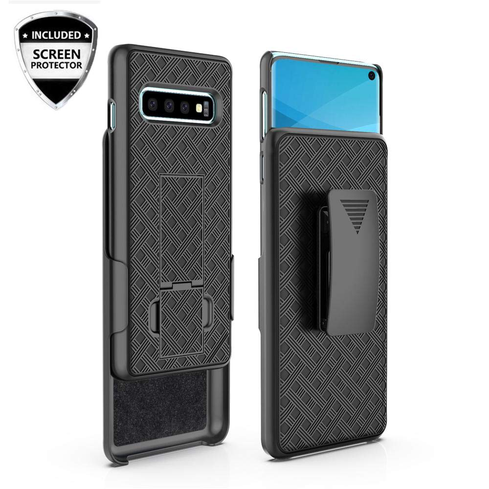quality design 8289a c91c3 For Samsung Galaxy S10/S10 Plus/S10e Shell Hard Case Cover + Belt Clip  Holster