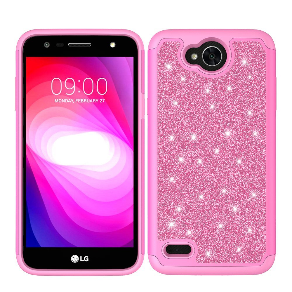 promo code eb600 7a5c9 LG X Charge Case, LG X Power 2 Case, LG Fiesta LTE Case, LG K10 Power Case,  SOGA Shinny Sparkling Bling Glitter Hybrid Slim Armor Protector Cover with  ...