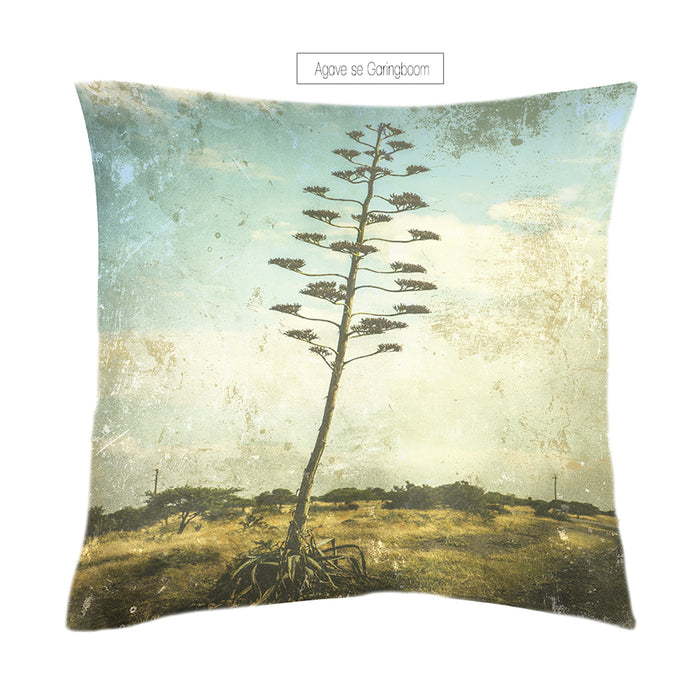 Scatter cushion digitally printed onto linen gentry for interior decor