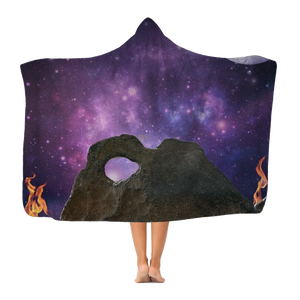 SpaceFireinSpace Classic Adult Hooded Blanket
