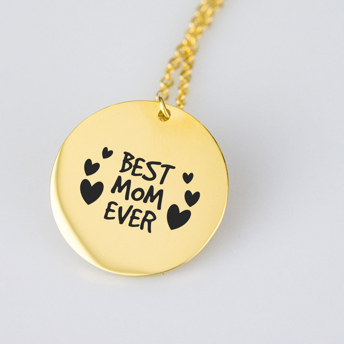 Best Mom Ever Gold Pendant