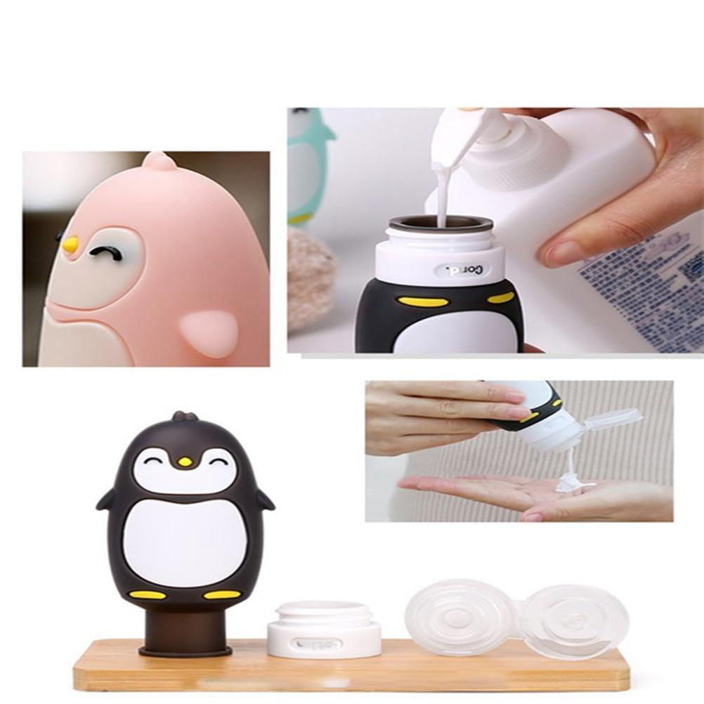 4pcs Silicone Travel Bottle Penguin Travel Cosmetics Packaging Bottle Collection Package Refillable Cosmetic Travel Containers-Hearts and Gifts