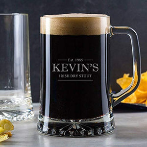 Personalised Pint Glass/Engraved Beer Tankard Glass