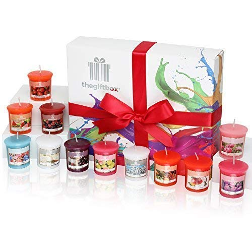 Sweetfluff Luxury Candle Gift Set with 12 Scented Wax Candles. Scented Candles Gift Sets Are Ideal Birthday Gifts for Women, Great Gifts for Her or Perfect Women's Gifts