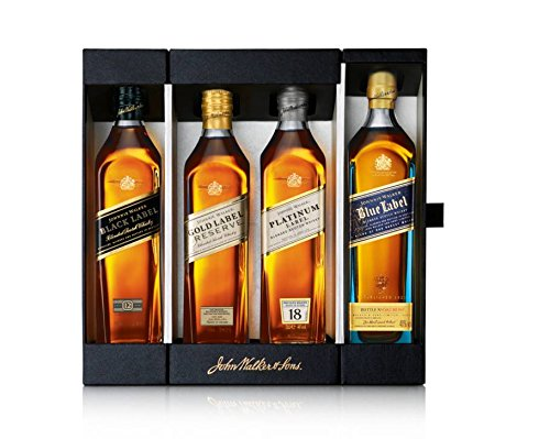 Johnnie Walker Collection Blended Scotch Whisky 4 x 20 cl Giftpack