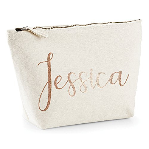 Personalised Name Make Up Bag Washbag Travel Birthday Valentines Christmas Present Gift New (Large (31 x 15 x 11cm), Black)