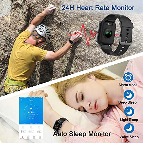 High-End Fitness Trackers, Health Sports Smart Watch with Heart Rate & Sleep Monitor