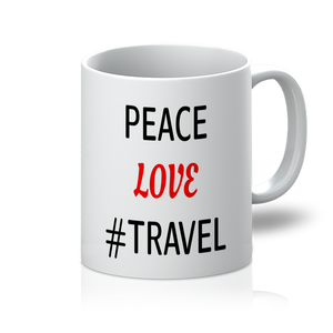 Peace Love Travel 11oz Mug