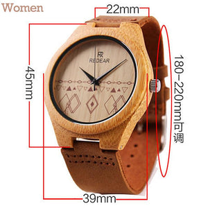 Bamboo Wood Watch for Men and Women-watch-Hearts and Gifts