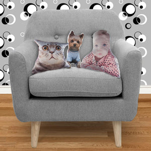 Coffee Dog Custom Shape Cushion-Homeware-Hearts and Gifts