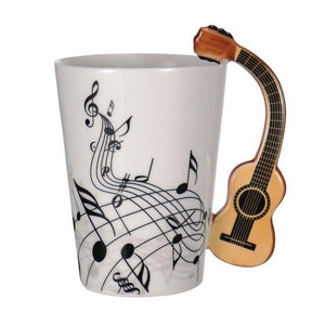 Creative Music Violin Guitar Ceramic Mugs for Coffee or Tea-Hearts and Gifts