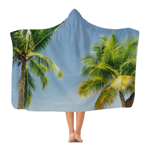 Palm Trees Classic Adult Hooded Blanket