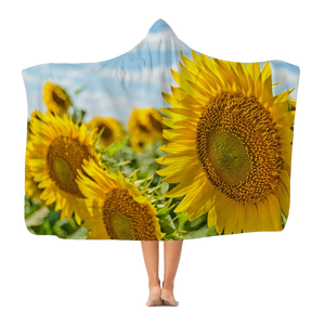 Sunflower Classic Adult Hooded Blanket
