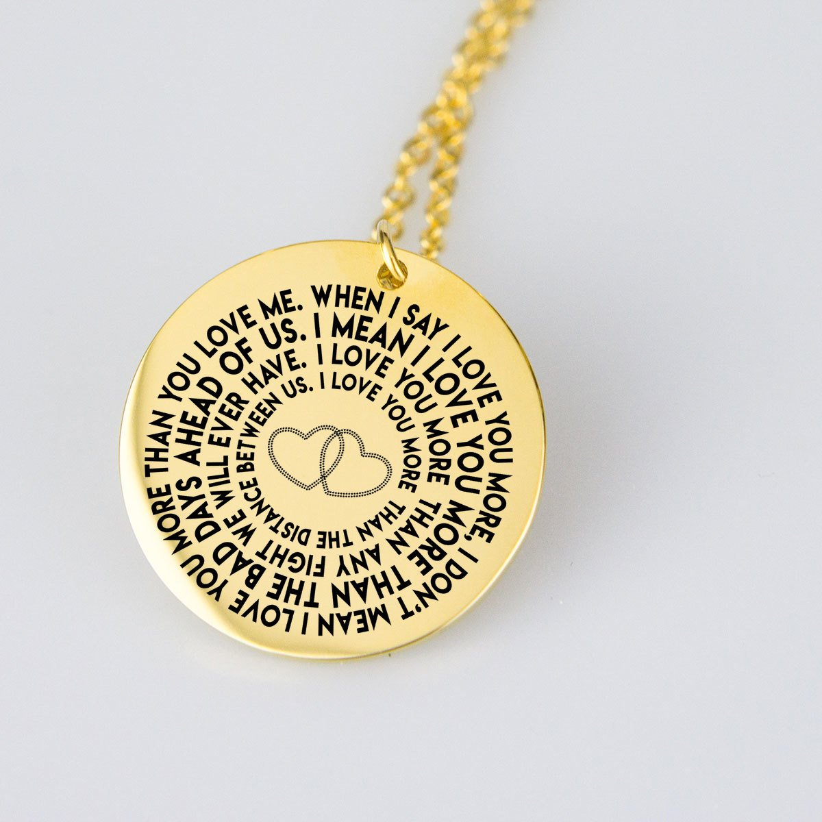I love you & I mean it-pendant-Hearts and Gifts