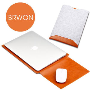 LEATHER SLEEVE FOR APPLE MACBOOK AIR-Macbook cover-Hearts and Gifts
