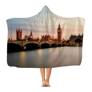 London Classic Adult Hooded Blanket-Apparel-Hearts and Gifts