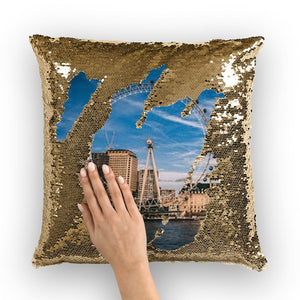 London Sequin Cushion Cover-Homeware-Hearts and Gifts