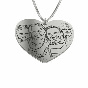 Love Family Photo Pendant-pendant-Hearts and Gifts