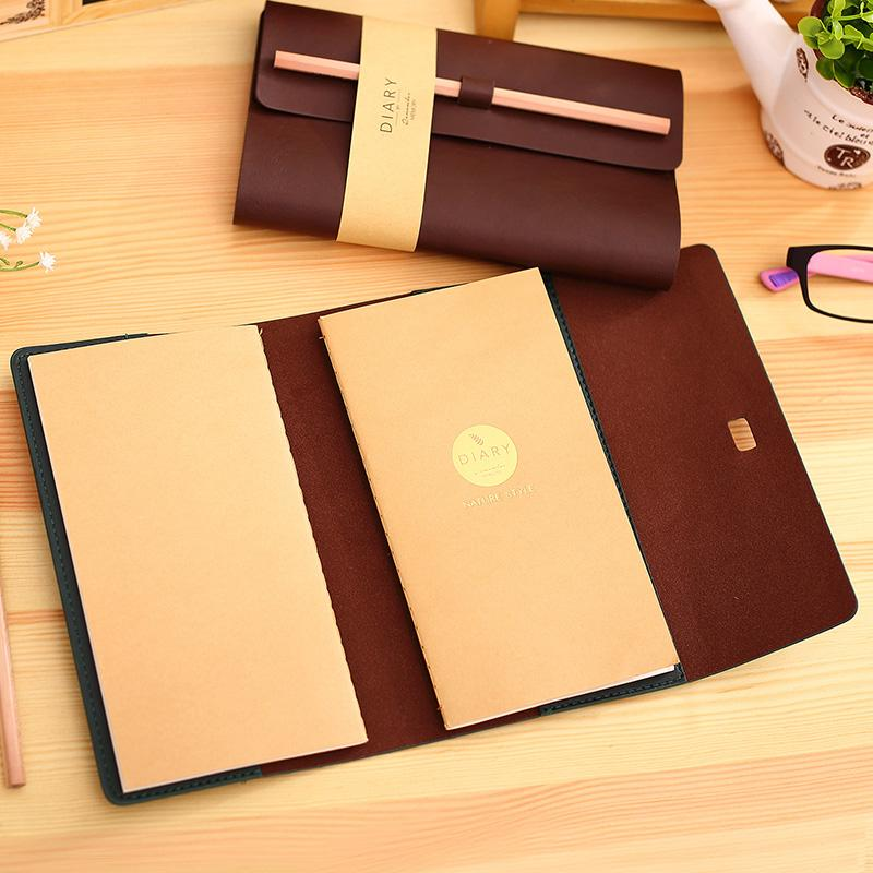 Luxury vintage leather diary and notebook-Hearts and Gifts