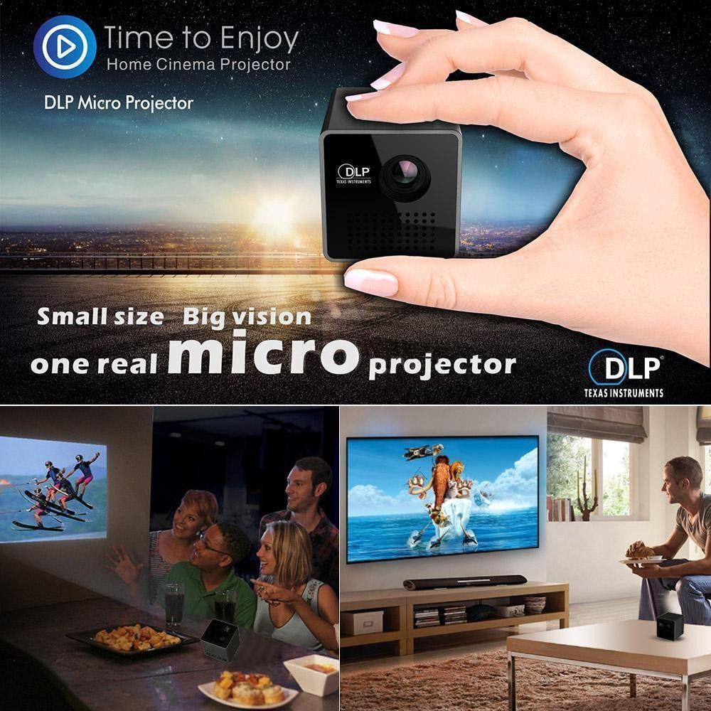 Mini Projector 1080P Wireless WIFI Mobile Projector Support Miracast DLNA Pocket Proyector home theater 5.1 DLP Beamer Battery-Hearts and Gifts