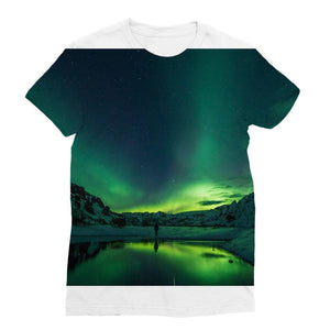 Norther Lights Classic Sublimation Women's T-Shirt-Apparel-Hearts and Gifts