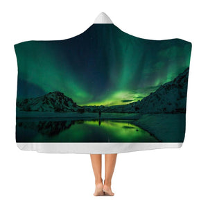 Norther Lights Premium Adult Hooded Blanket-Apparel-Hearts and Gifts