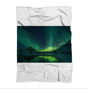 Norther Lights Premium Sublimation Adult Blanket-Homeware-Hearts and Gifts