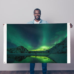 Norther Lights Sublimation Flag-Wall Decor-Hearts and Gifts