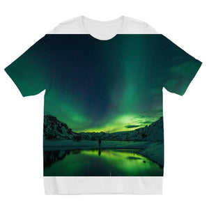 Norther Lights Sublimation Kids T-Shirt-Apparel-Hearts and Gifts