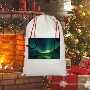 Norther Lights Sublimation Linen Drawstring Sack-Homeware-Hearts and Gifts