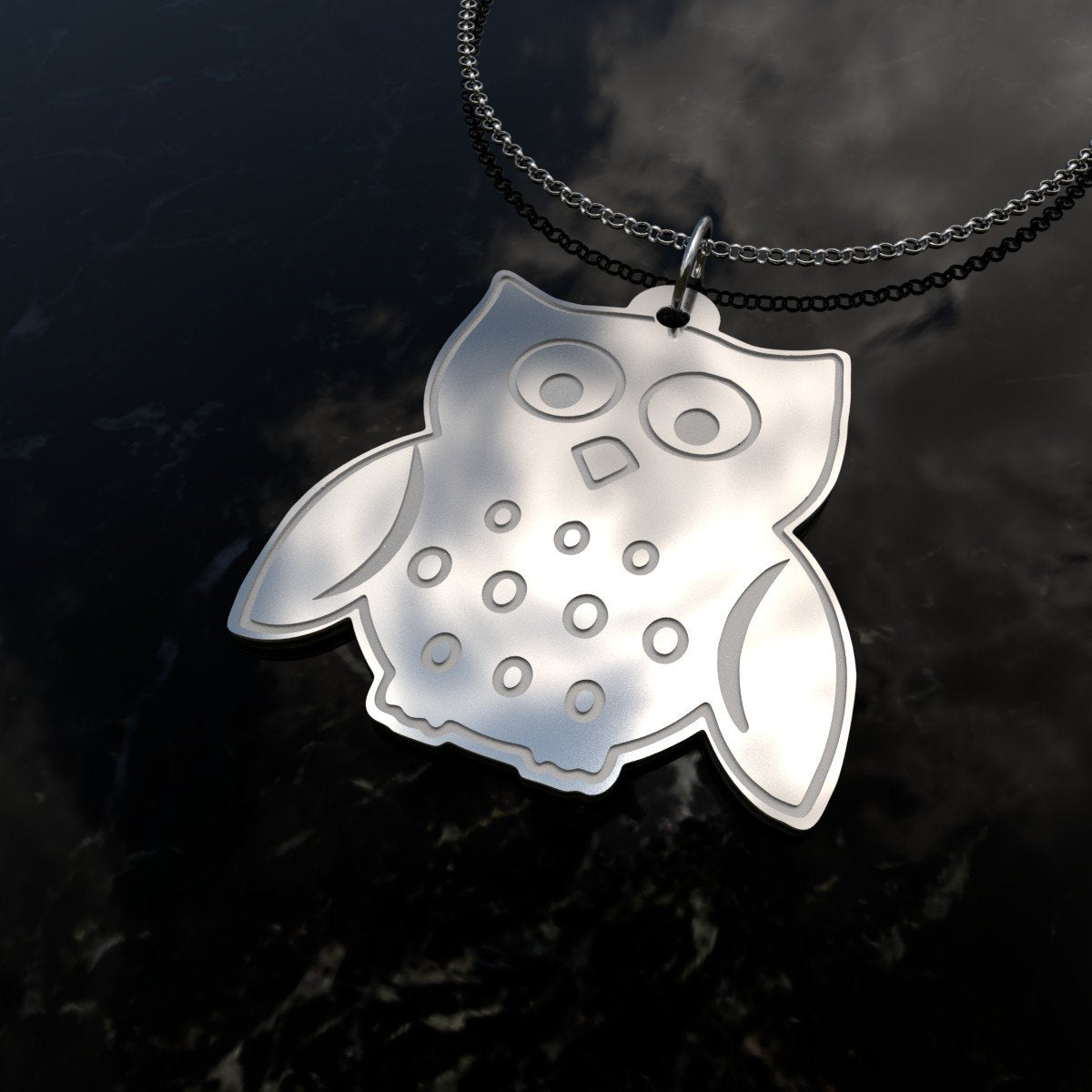 Owl - The Cutest Sterling Silver Necklace-pendant-Hearts and Gifts
